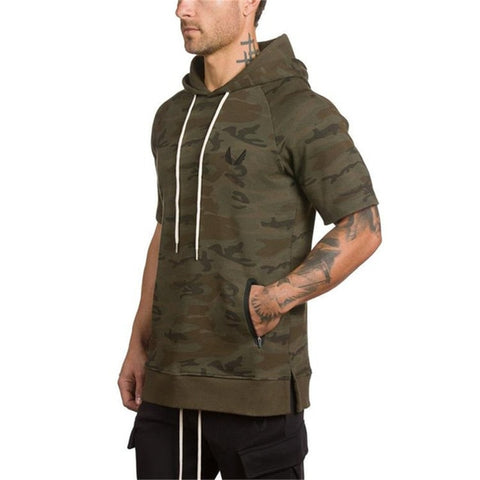 2019 Men Gyms Camouflage Zipper Hoodies Fitness Bodybuilding Sweatshirt Crossfit Pullover Sportswear Male Workout Hooded Jackets - unitedstatesgoods