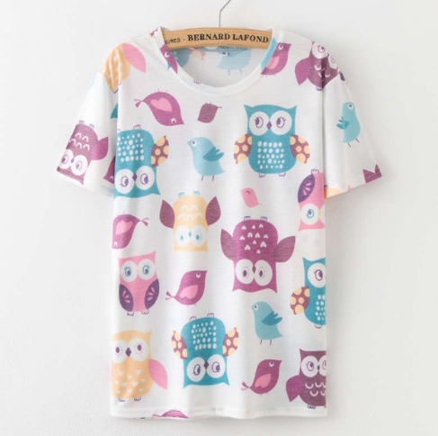 Printing  Fruit Cartoon Pattern T-shirt