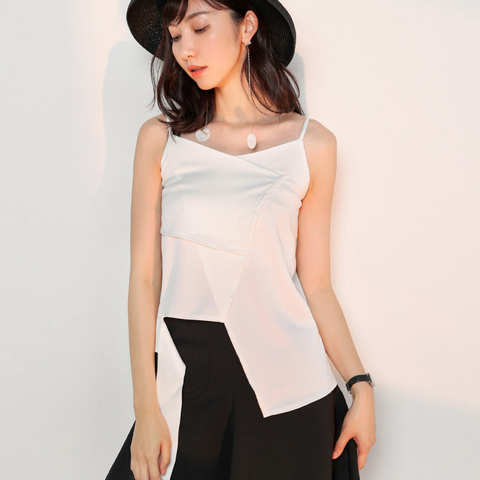 Slim and irregular fashion top