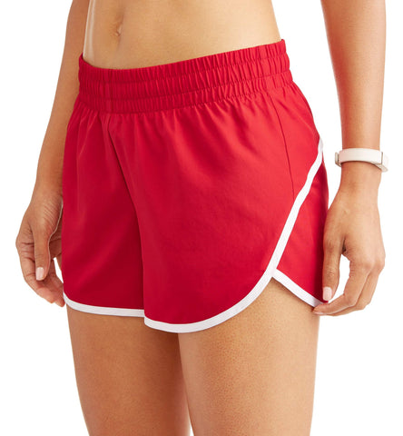 Athletic Works Women's Core Active Dolphin Hem Woven Running Shorts With Hidden Liner - unitedstatesgoods
