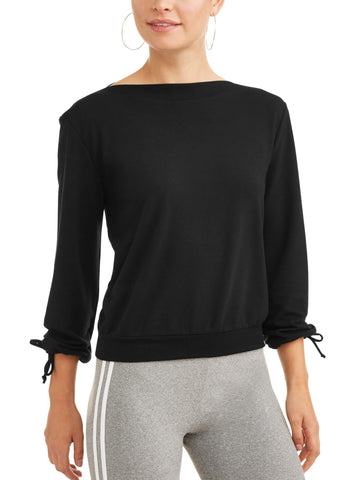 Women's Long Tie Sleeve Ballet Sweatshirt - unitedstatesgoods