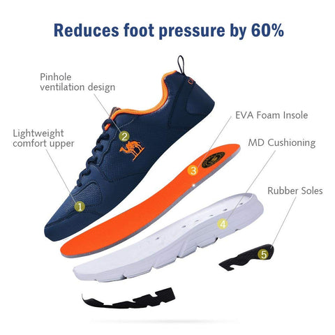 Camel Men's Trail Running Shoes Lightweight Shockproof Cushioning Casual Sport Athletic Walking Sneakers for Gym Outdoor - unitedstatesgoods