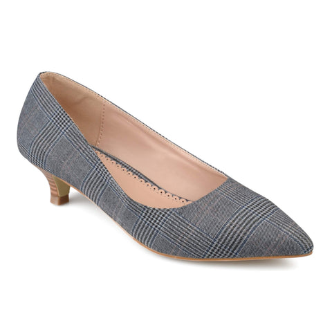 Brinley Co. Women's Pointed Toe Fabric Kitten Heels - unitedstatesgoods