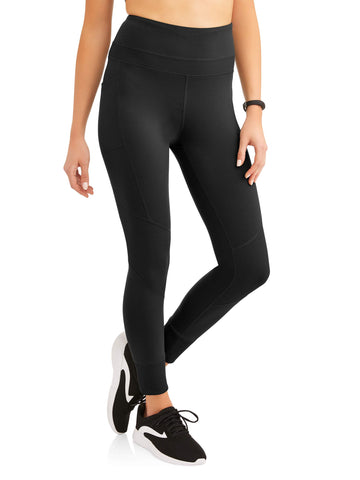 Women's Active Performance Mix Ribbed Performance Crop Legging with Media Pocket - unitedstatesgoods