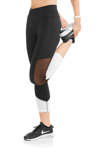 Women's Contrast Ankle Colorblock Performance Capri Legging - unitedstatesgoods