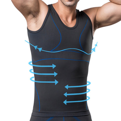 Men Elastic Gym Breathable Sport Compression O Neck Tank Top - unitedstatesgoods