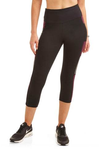 Avia Women's High Rise Colorblock Premium Flex Tech Compression Legging - unitedstatesgoods