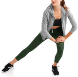Women's Active High Rise Performance Filament Insert Capri Legging - unitedstatesgoods