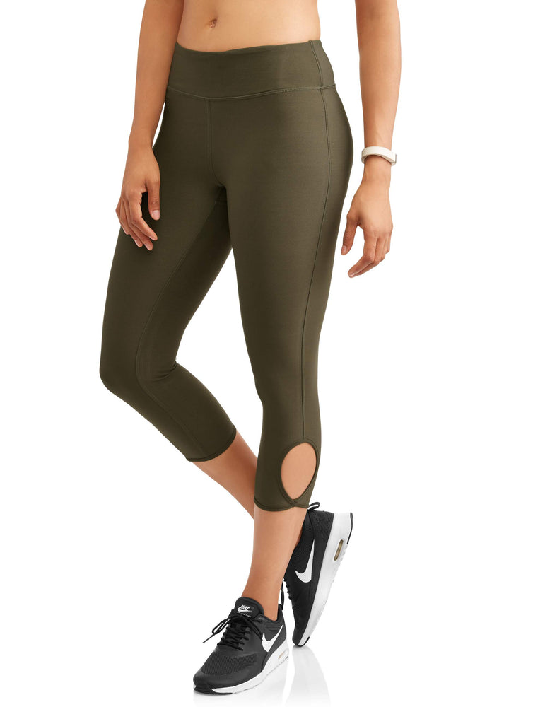 N.Y.L. Sport Women's Active Ankle Cutout Performance Capri Legging - unitedstatesgoods