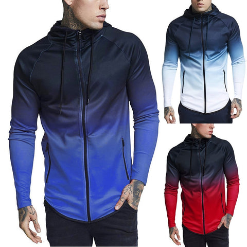 Autumn Hoodie Male Cardigan 2018 New Long Sleeve Hoodies Men Zipper Sweatshirt Hoodies Mens Hooded EUR Size Fitness Coat Jacket - unitedstatesgoods