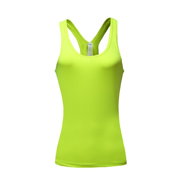 BARBOK Summer Women Gym Sports Yoga Shirts Vest Sleeveless Shirt Quick Dry Fitness Running Workout Clothes Sexy Tank Tops - unitedstatesgoods