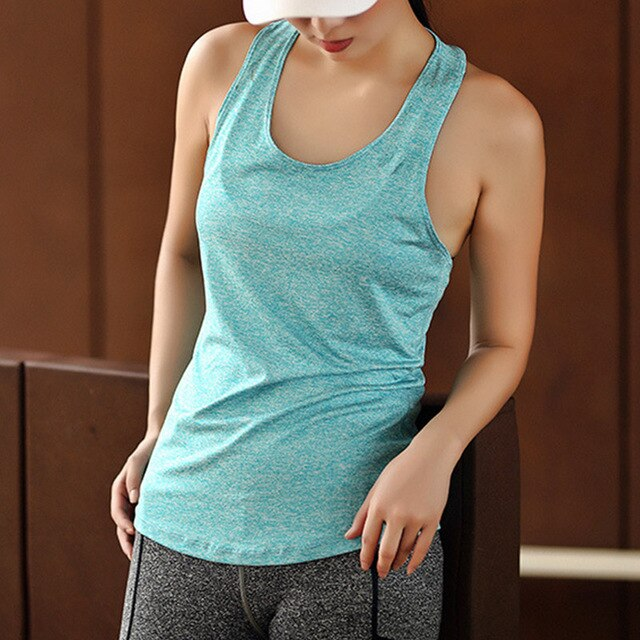 Comfortable Women Yoga Top Gym Comfortable Sports Sleeveless T Backless Shirts Sport Fitness Shirts Running Clothes Singlets - unitedstatesgoods