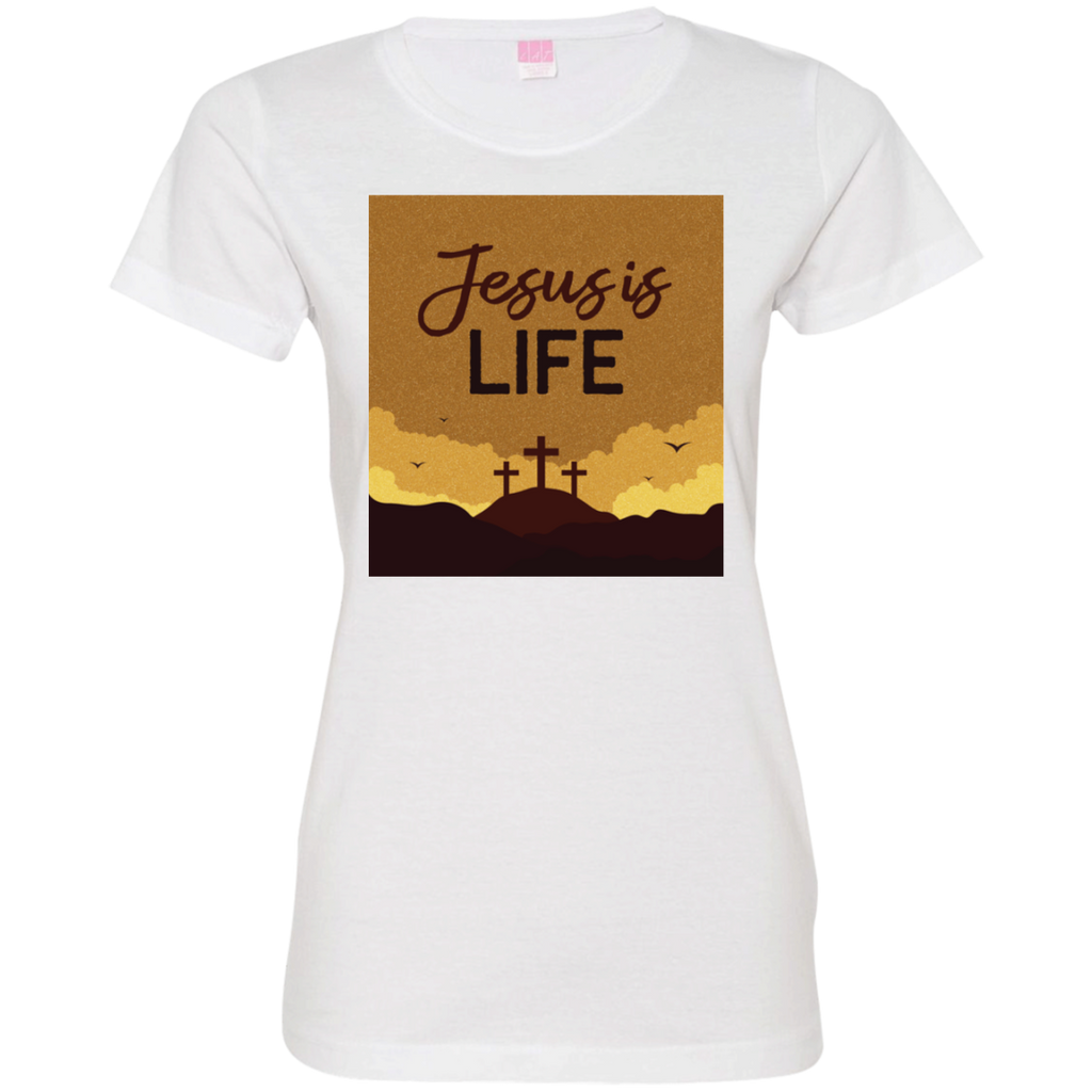 Jesus is life 3516 Ladies' Fine Jersey T-Shirt