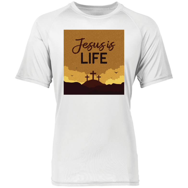 Jesus is life 2790 Raglan Sleeve Wicking Shirt