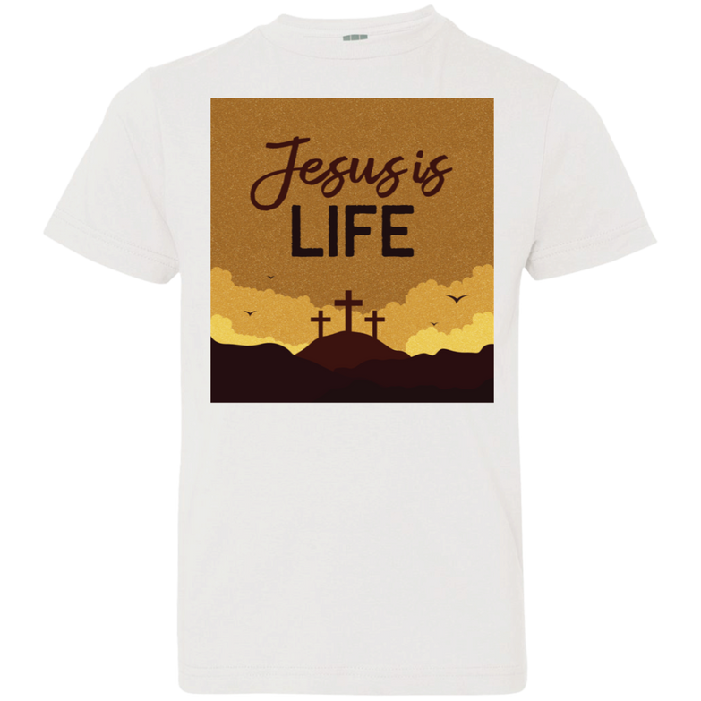 Jesus is life 6101 Youth Jersey T-Shirt