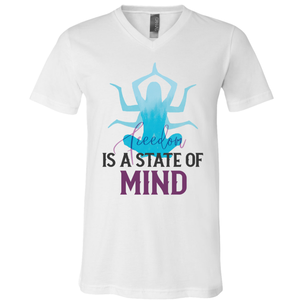 Is a state of mind 3005 Unisex Jersey SS V-Neck T-Shirt