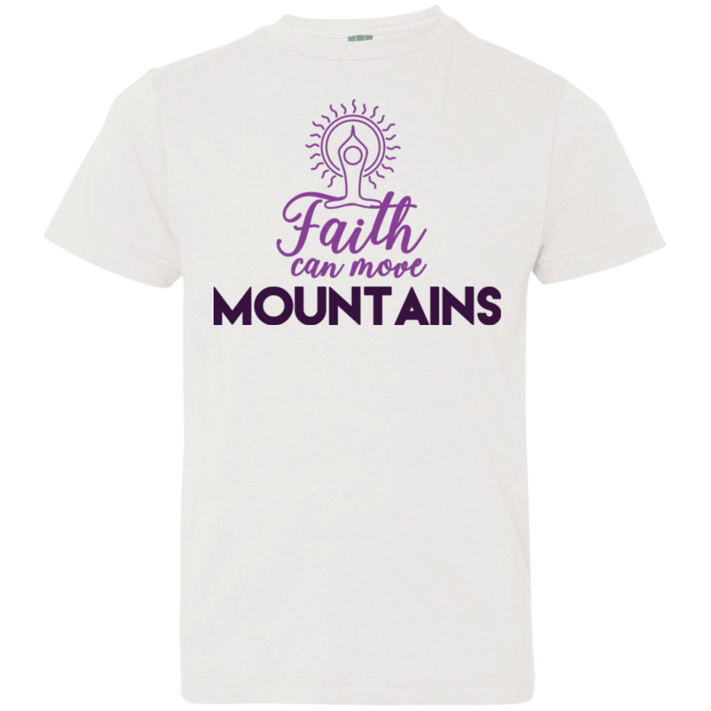 Faith can move mountains 6101 Youth Jersey T-Shirt