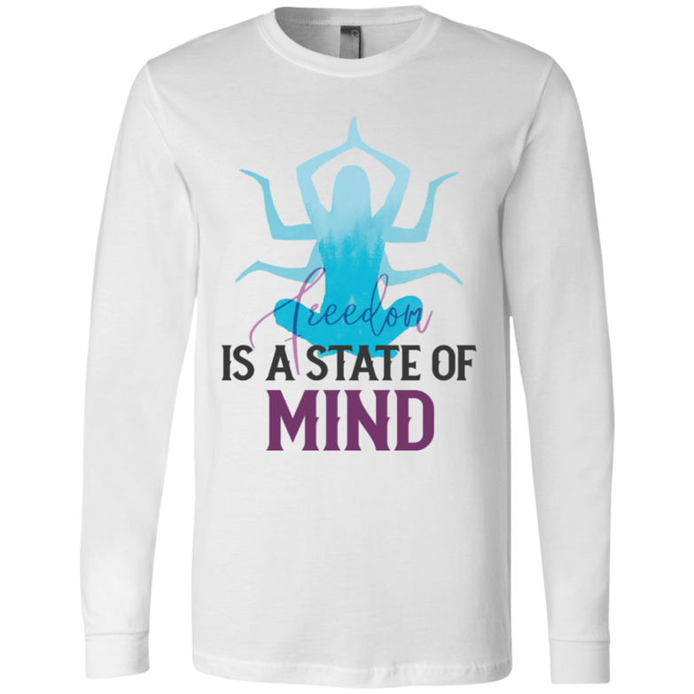 Is a state of mind 3501 Men's Jersey LS T-Shirt