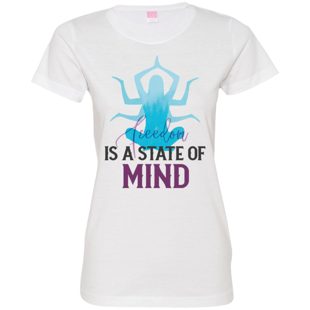 Is a state of mind 3516 Ladies' Fine Jersey T-Shirt