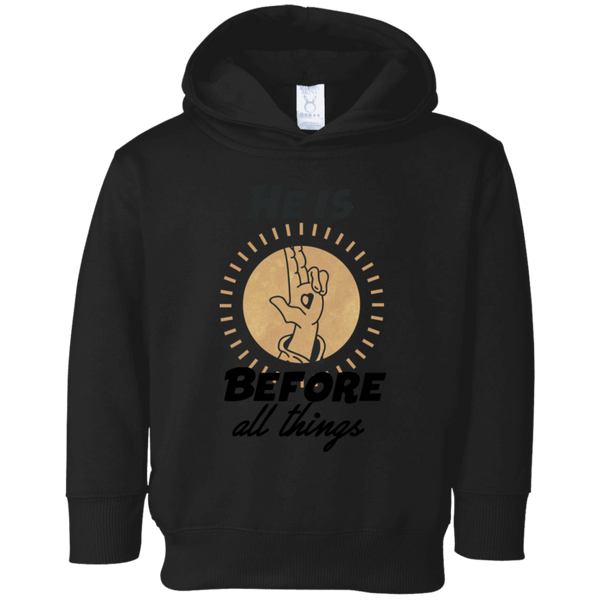 He is before all things 3326 Toddler Fleece Hoodie
