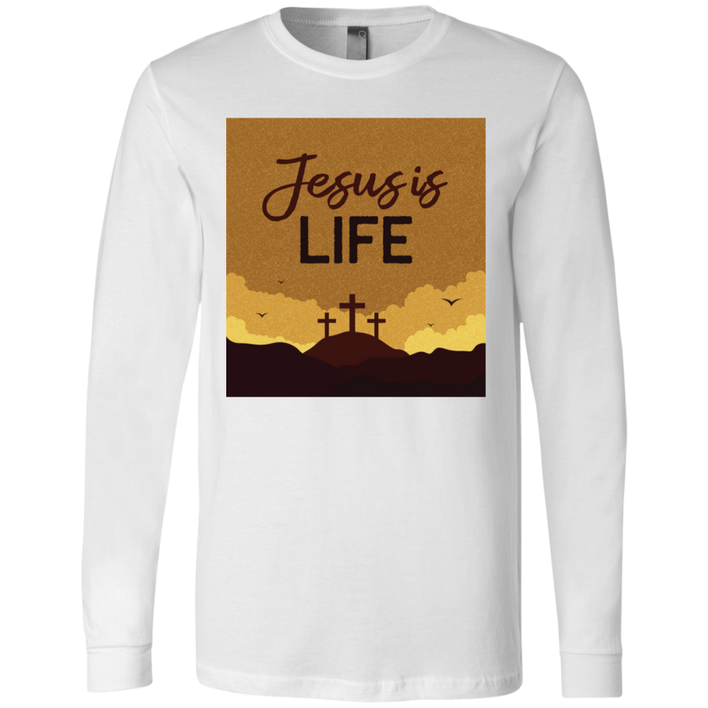 Jesus is life 3501 Men's Jersey LS T-Shirt