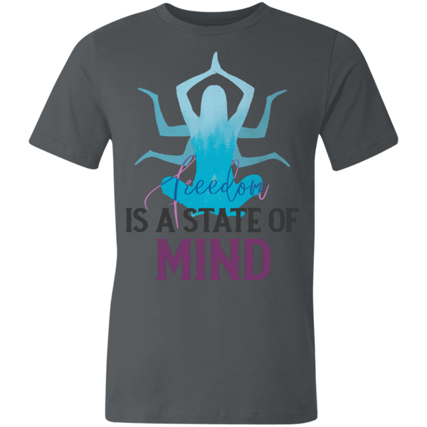 Is a state of mind 3001U Unisex Made in the USA Jersey Short-Sleeve T-Shirt