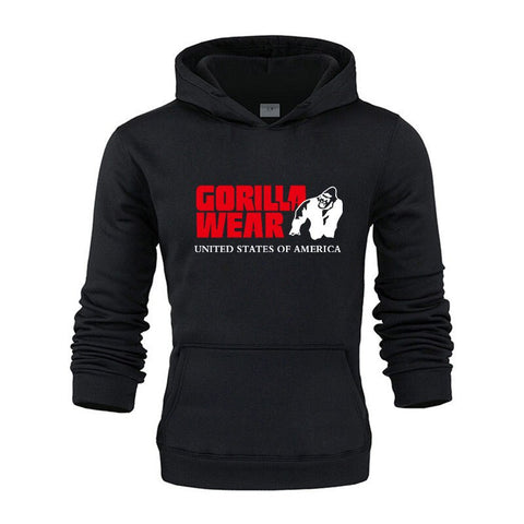 Gorilla wear brand Colorful Men Hip Hop Streetwear Solid Fleece Man Hoodies Men's Thicken Clothes Winter Sweatshirts loose Hoody - unitedstatesgoods