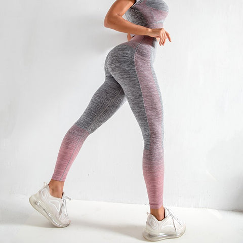 Women Yoga Sets Yoga Short Sleeve  High Waist  Sport Leggings Gym Set  Yoga Clothes Sports Suit Fitness  Top Shirt  yoga suit