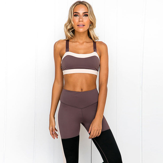 2 Piece Set Women Quick Dry Yoga Set Tracksuit Workout Gym Set Running Clothing Sportswear Fitness Suit Yoga Bra Sports Leggings