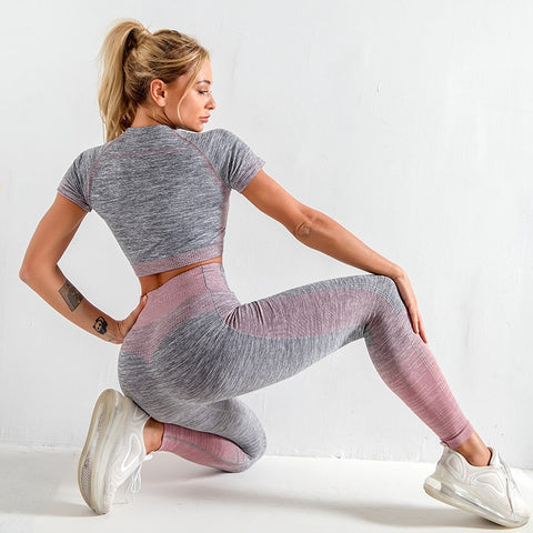 yoga suits women yoga set gym clothing Female Sport fitness suit Running  Clothes yoga top yoga leggings women Seamless