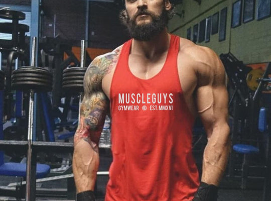 Muscleguys gyms clothing brand singlet canotte bodybuilding stringer tank top men fitness undershirt muscle sleeveless Tanktop