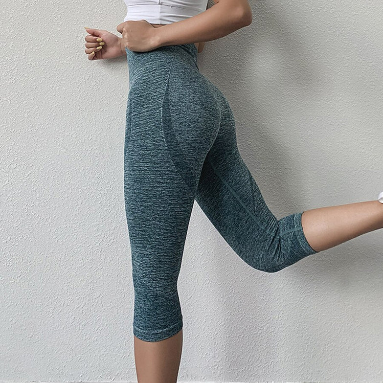 BINAND Tights Woman Sports Fitness Yoga Pants Workout Gym Leggings Sport Women Fitness Seamless Sport Leggings Capris 3/4 Pants