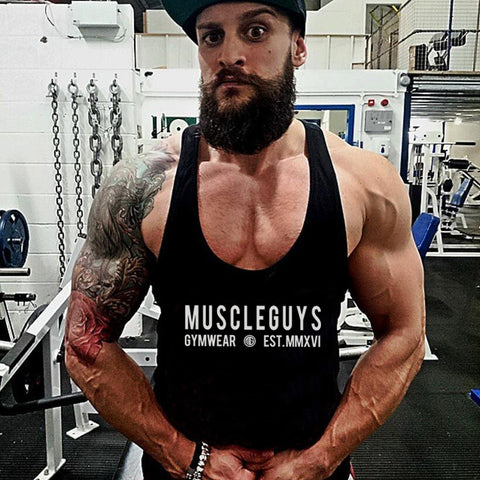 Muscleguys gyms clothing brand singlet canotte bodybuilding stringer tank top men fitness undershirt muscle sleeveless Tanktop - unitedstatesgoods