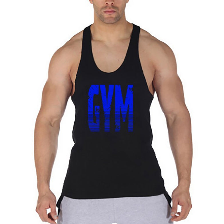 Brand Gyms Clothing Fitness Men Tank Top Letters Print Vest Mens Bodybuilding Stringer Tanktop Workout Singlet Sleeveless Shirt - unitedstatesgoods