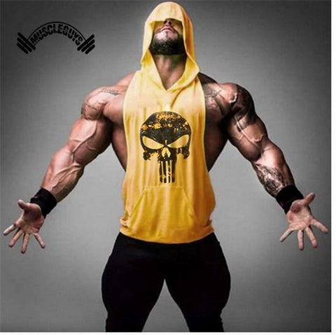 Muscleguys Brand Clothing Fitness Tank Top Men Stringer Golds Bodybuilding Muscle Shirt Workout Vest gyms Undershirt Plus Size - unitedstatesgoods