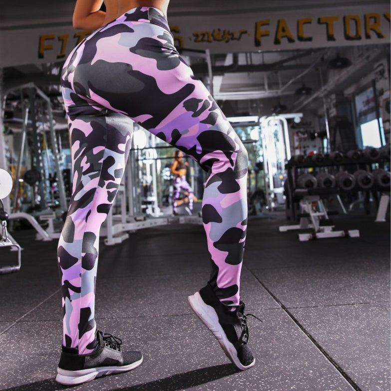 Professional Running Fitness Gym Sport Leggings Tight Trouser Pencil Leggins Vertvie Honeycomb Printed Yoga Pants Women Push Up
