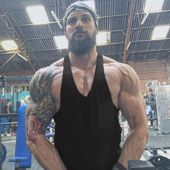 Brand Bodybuilding Stringer Tank Top Men Musculation Solid Vest Gyms Clothing Fitness Men Undershirt Blank Tank Sleeveless Shirt - unitedstatesgoods