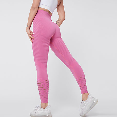 NICERES Seamless Gym Leggings High Waist Hollow Out Sexy Push Up Running Tight Yoga Leggings Sport Pants Women Fitness