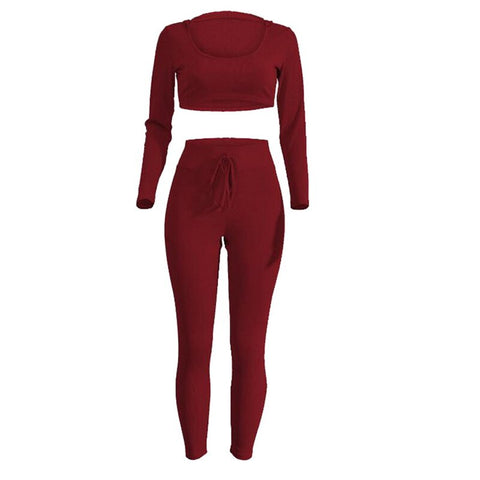 Women Yoga Set Tracksuit Hoodie Long Sleeve Sport Pants Fitness Gym 2018 Tank Tops High Waist Running Tights
