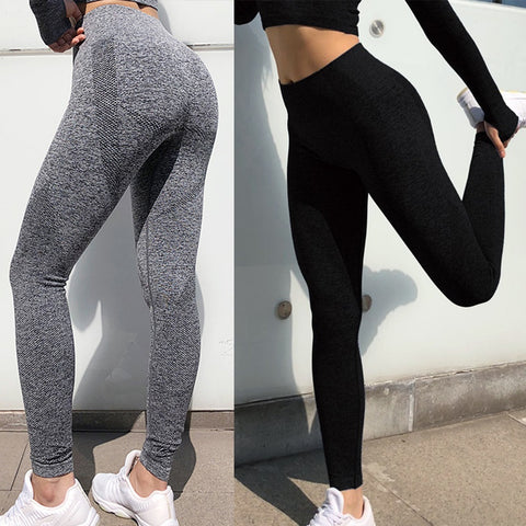 GYM Seamless High Waist Yoga Leggings Tights Women Workout Dot Breathable Fitness Clothing Female Stretchy Training Pants