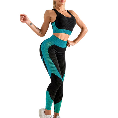 2020 Yoga Bra Suits Women Yoga Set Gym Clothing Female Sport Fitness Suit Running Clothes Yoga top+ Leggings Women Seamless Gym