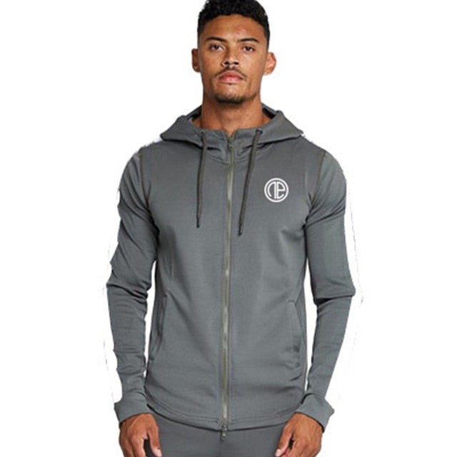 Men Gyms Fitness Bodybuilding Hoodies Sweatshirts Male Fashion Casual Zipper Jacket Man Joggers Workout Sportswear Tops Coats - unitedstatesgoods