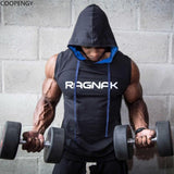 Men cotton sleeveless Hoodies Sweatshirts male Gyms fitness Bodybuilding Hooded Vest  Brand clothing Casual fashion tops 2018 - unitedstatesgoods