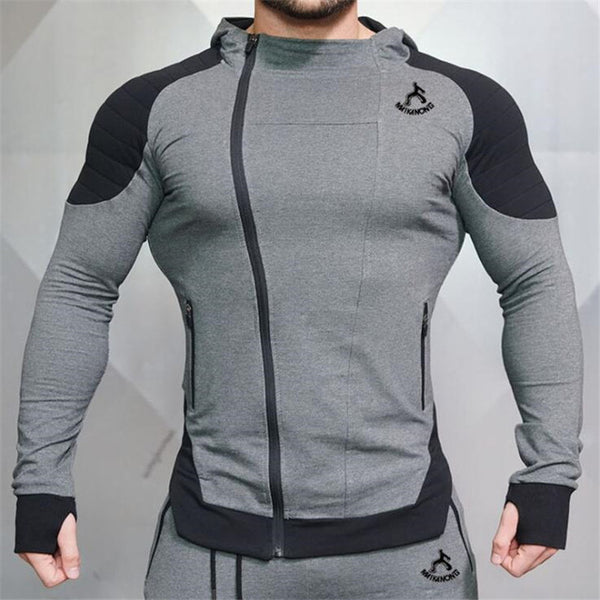 Men's Workout Fitness Hooded Sweatshirt Gyms brand Tops 2018 Men Casual Hoodies  Men Bodybuilding Sweatshirt Jackets - unitedstatesgoods