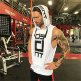 Mens Fitness Hoodies Sleeveless Hoodie Fitness Sweatshirt Boys Hooded Tops Bodybuilding Clothing Workout Hip Hop Activewear - unitedstatesgoods