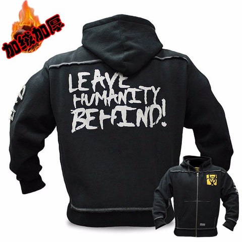 Mutant Winter  Fitness Men Gyms Hoodies Sweatshirt Bodybuilding Hoody Zipper Casual Sweatshirt Men's Slim Fit Hooded Jacket