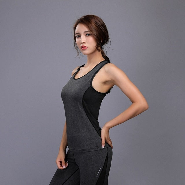 Women Tank Running Breathable Fitness Comfortable Vest Workout Sleeveless Quick Dry Gym Boxing Sportswear Shirt Yoga Top - unitedstatesgoods