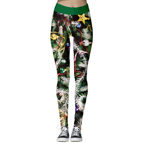 Women's High Waist Leggings 2019 Snowflake Christmas Printing Leggings Bottoms Breathable Merry Christmas Pants Fitness Leggins - unitedstatesgoods