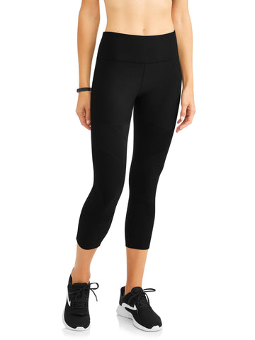 Women's Active Mesh Insert Performance Capri Legging - unitedstatesgoods