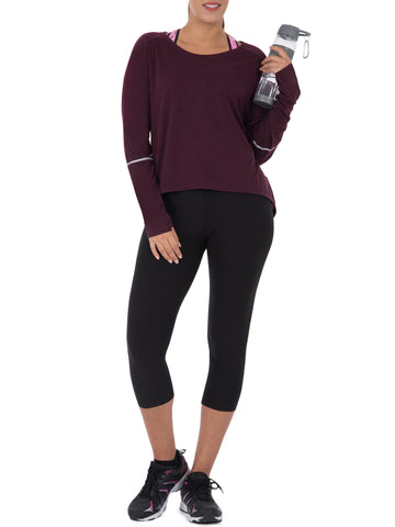 Women's Active Long Sleeve Tunic With Reflective Detail - unitedstatesgoods